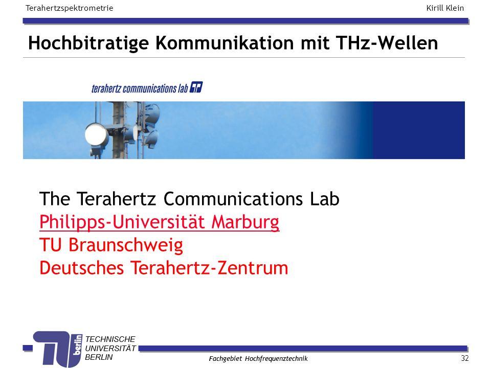 Hochbitratige Kommunikation mit THz-Wellen