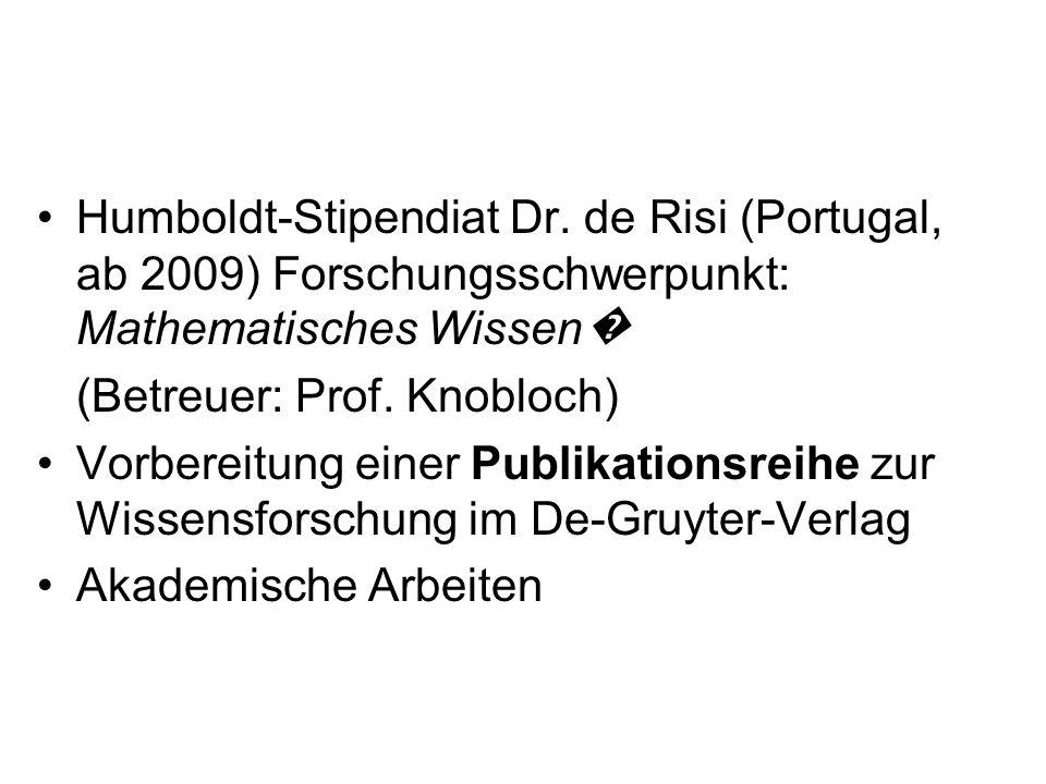 Humboldt-Stipendiat Dr
