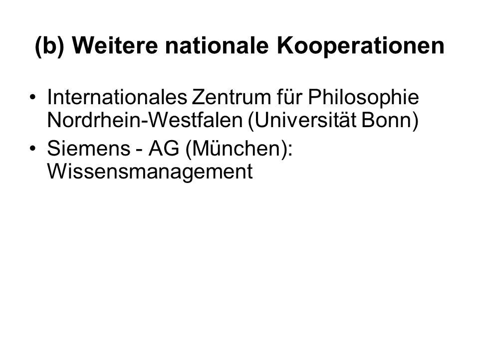 (b) Weitere nationale Kooperationen