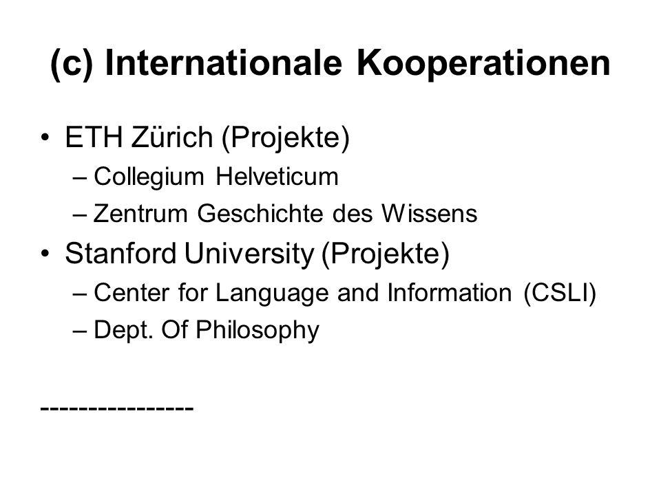 (c) Internationale Kooperationen