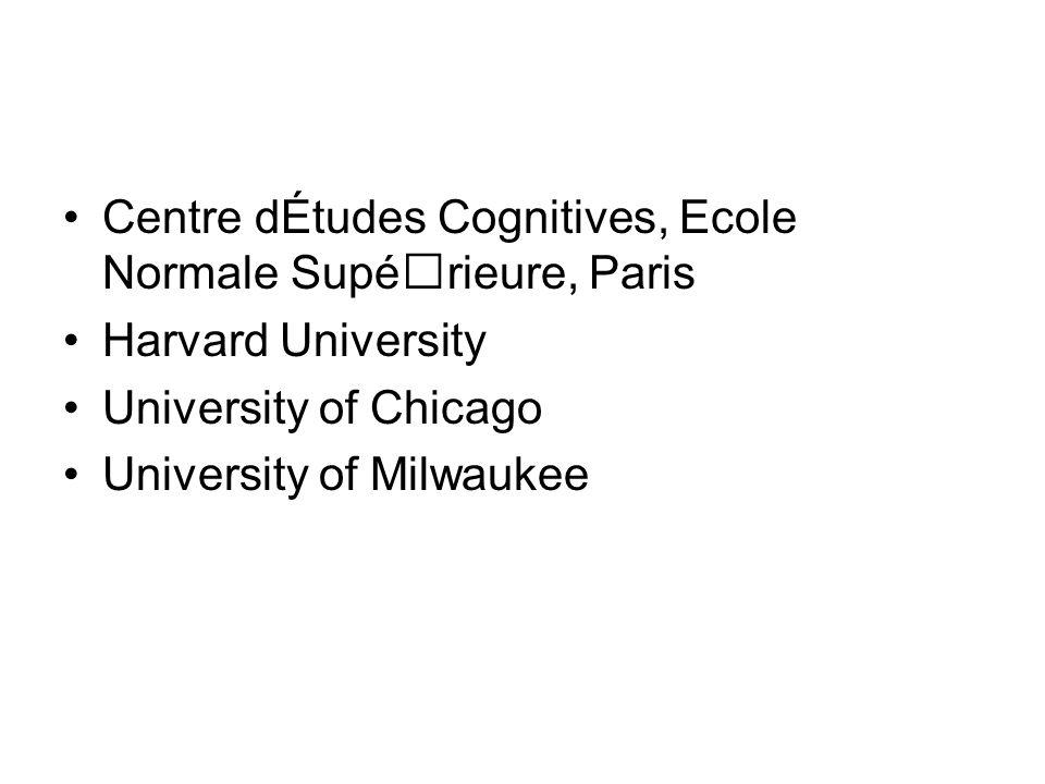 Centre dÉtudes Cognitives, Ecole Normale Supérieure, Paris