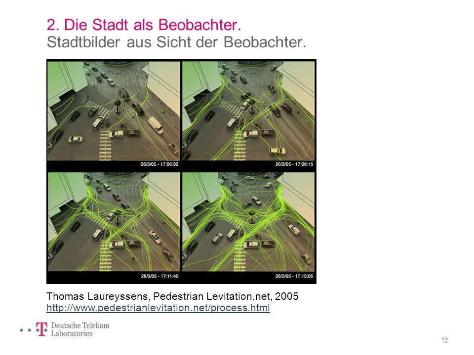 2. Die Stadt als Beobachter. Stadtbilder aus Sicht der Beobachter.