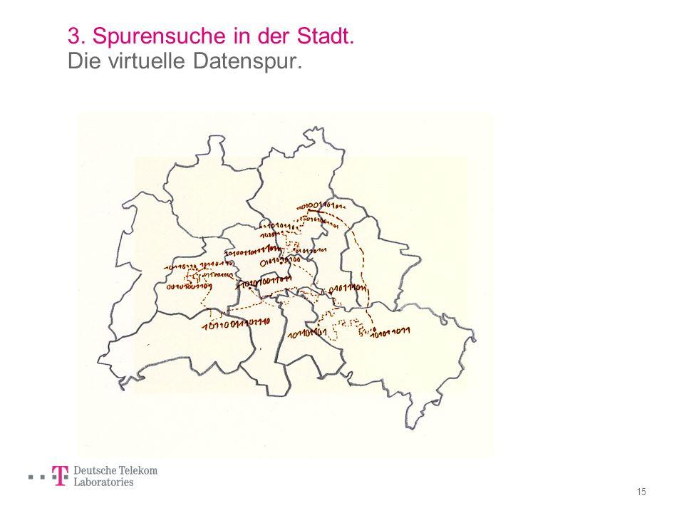 3. Spurensuche in der Stadt. Die virtuelle Datenspur.