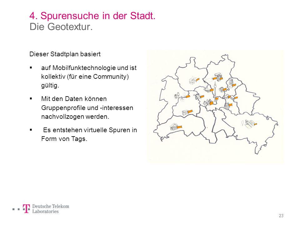 4. Spurensuche in der Stadt. Die Geotextur.