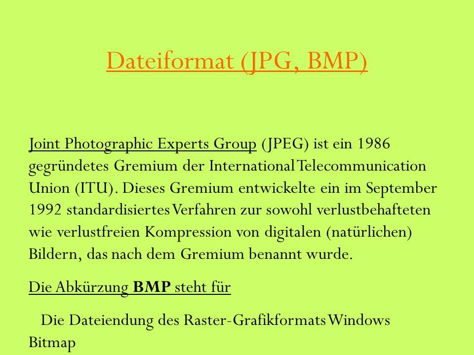 Dateiformat (JPG, BMP)