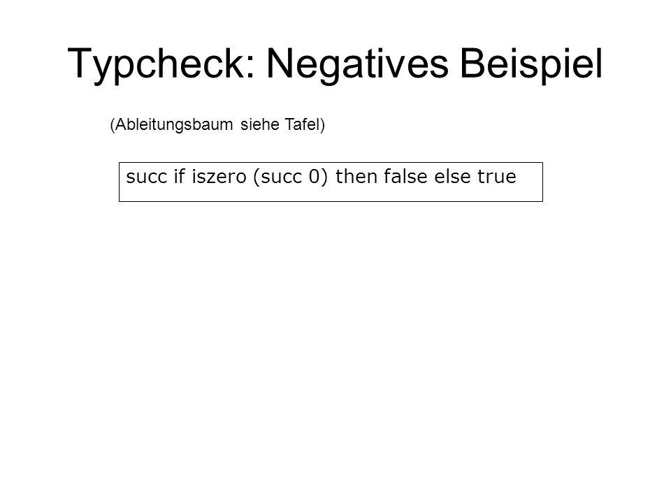 Typcheck: Negatives Beispiel