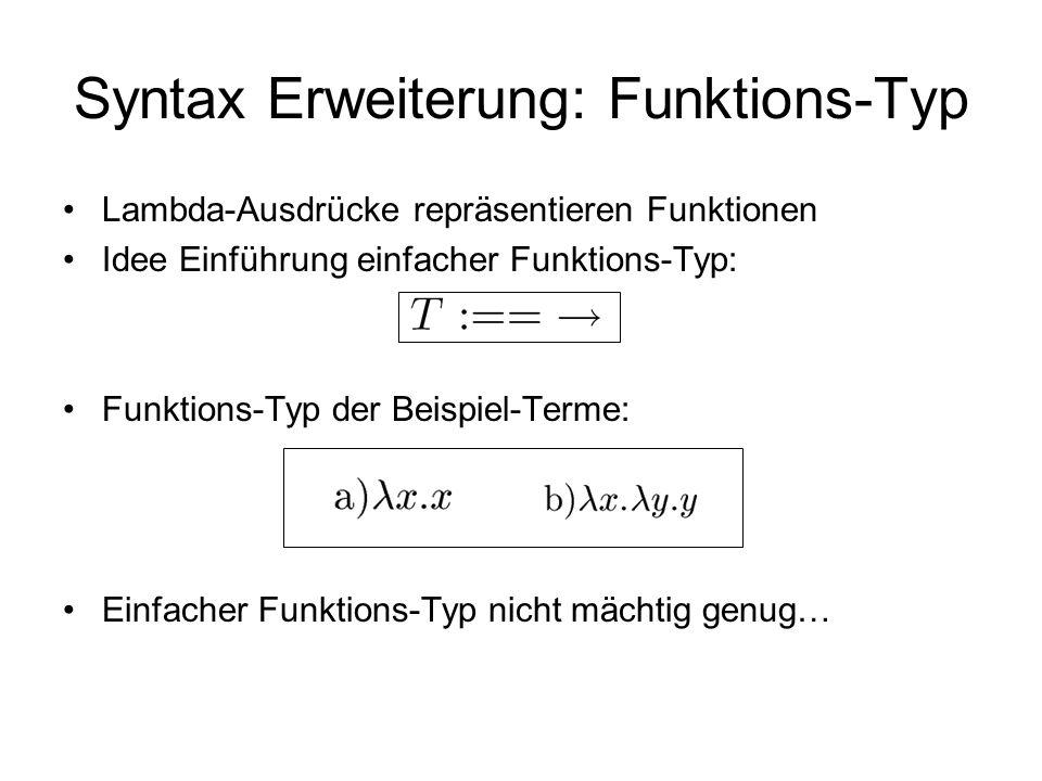 Syntax Erweiterung: Funktions-Typ