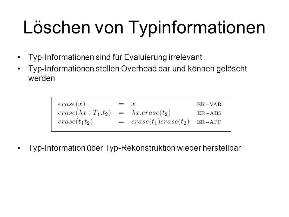 Löschen von Typinformationen