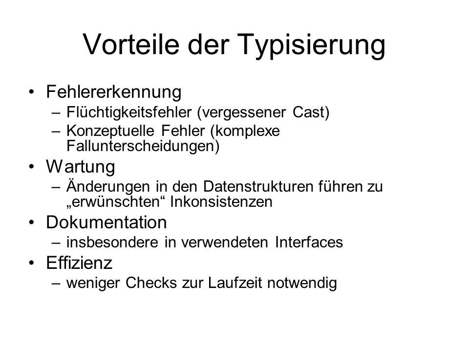 Vorteile der Typisierung