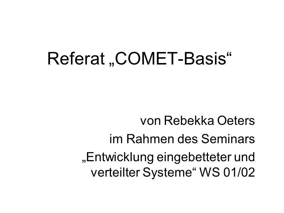 """Referat """"COMET-Basis"""