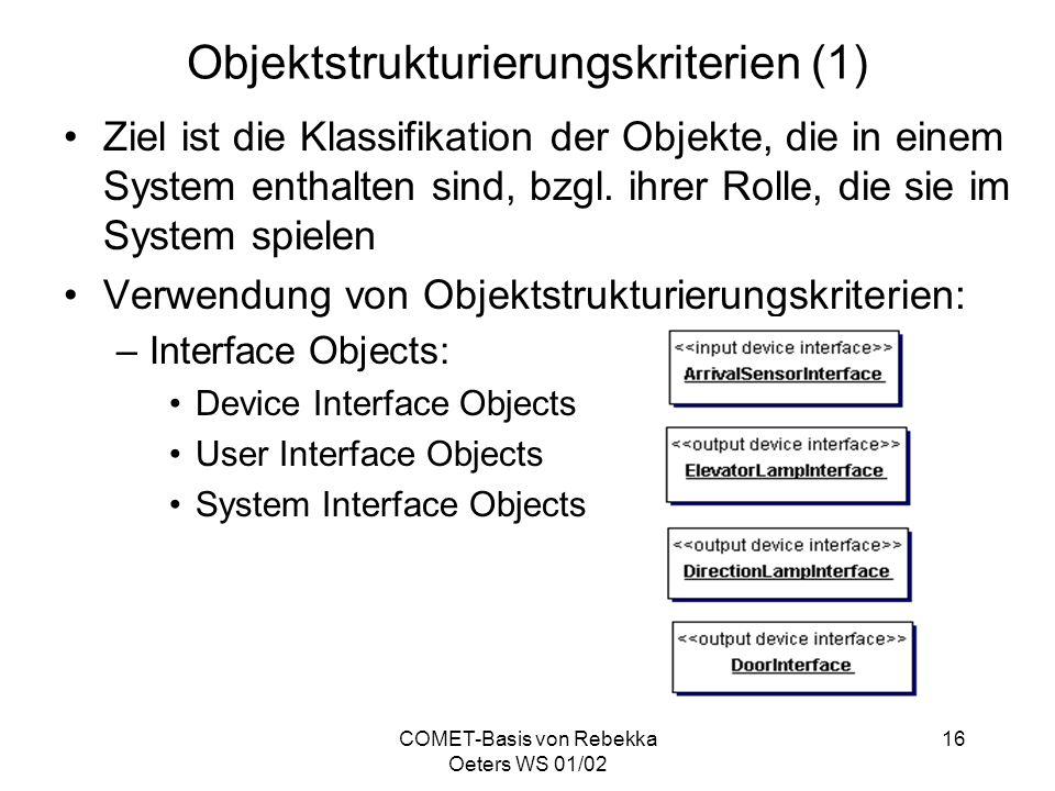 Objektstrukturierungskriterien (1)