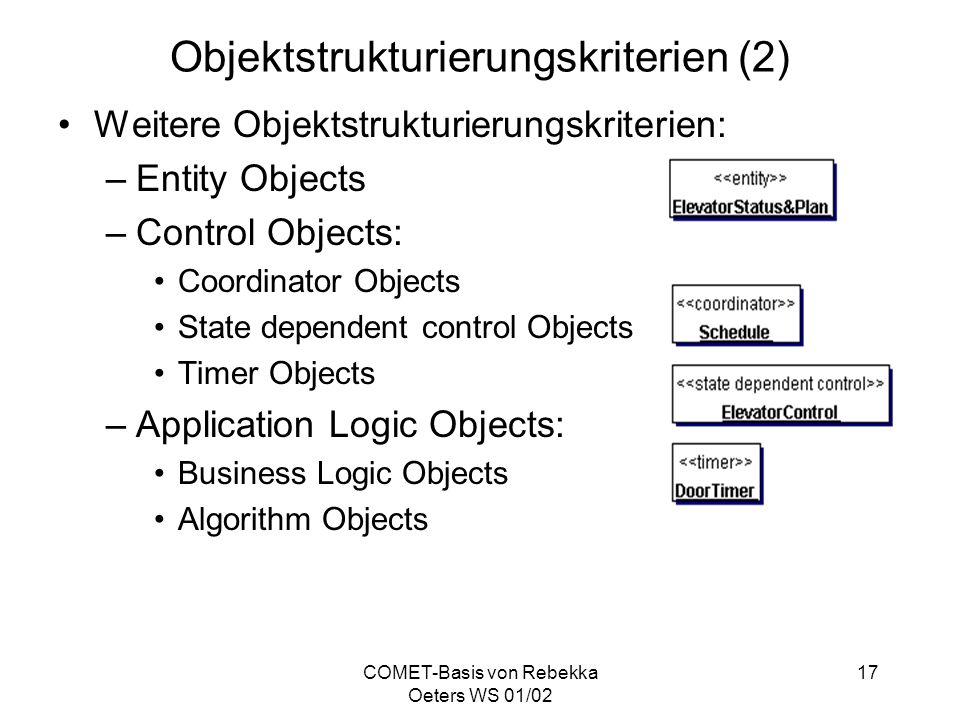 Objektstrukturierungskriterien (2)