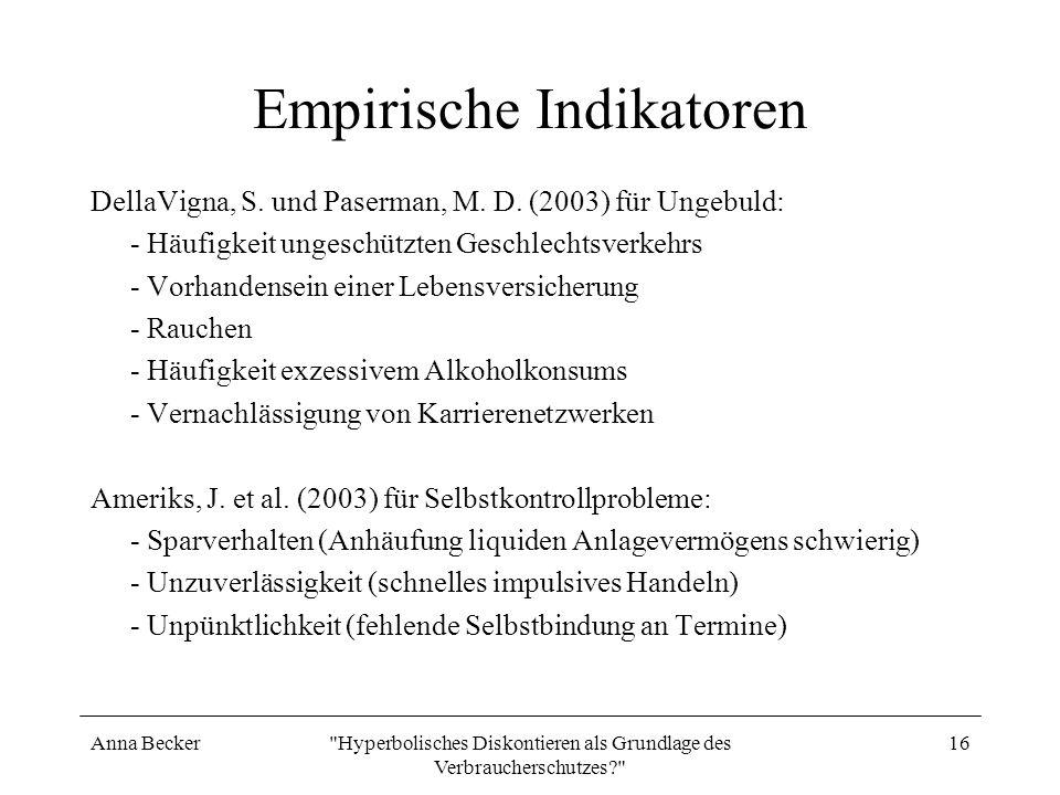 Empirische Indikatoren