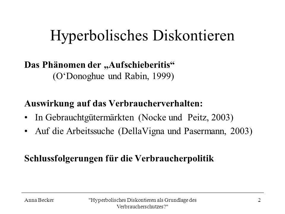 Hyperbolisches Diskontieren