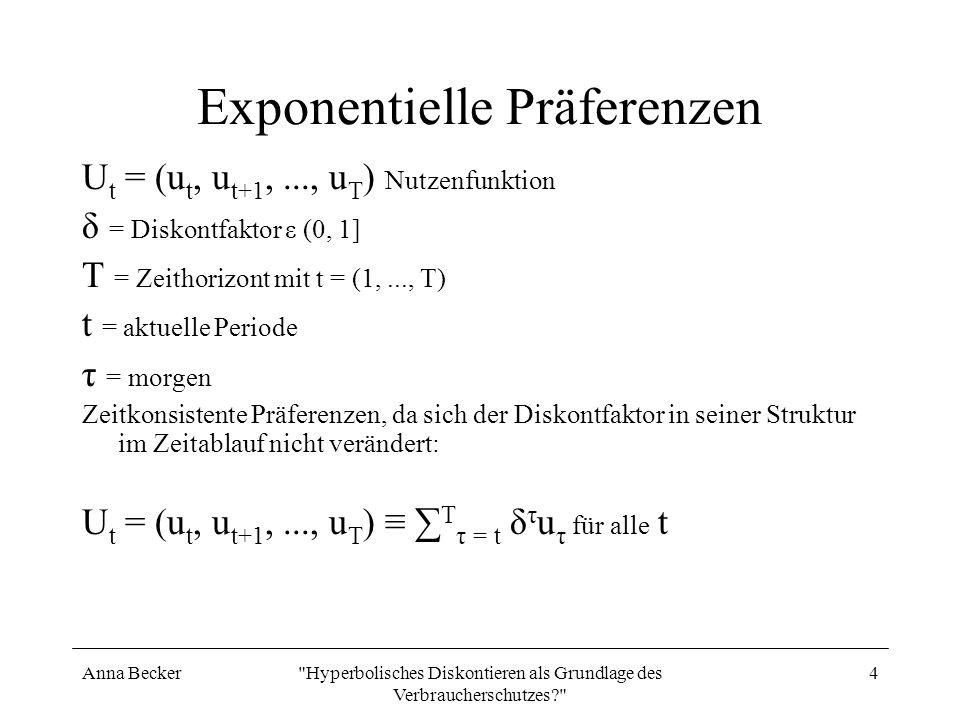 Exponentielle Präferenzen