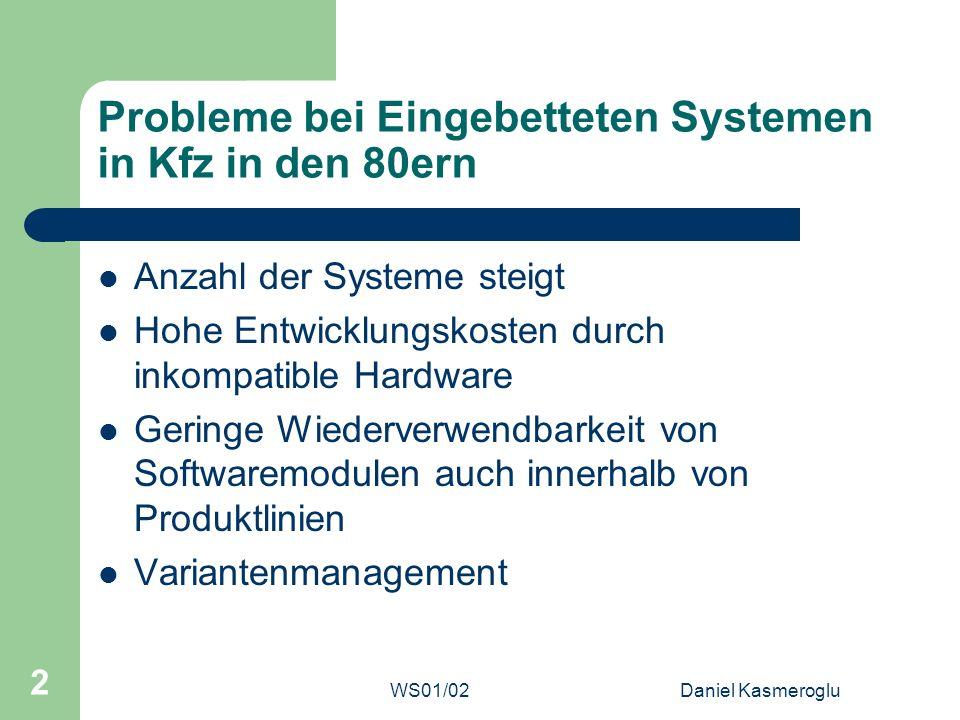 Probleme bei Eingebetteten Systemen in Kfz in den 80ern