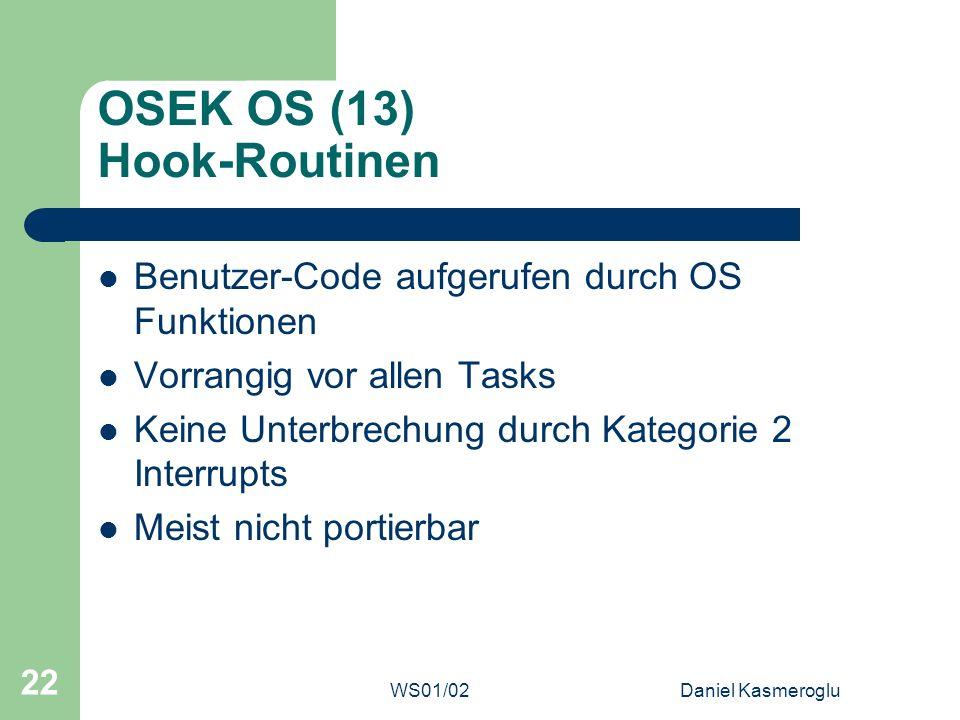 OSEK OS (13) Hook-Routinen