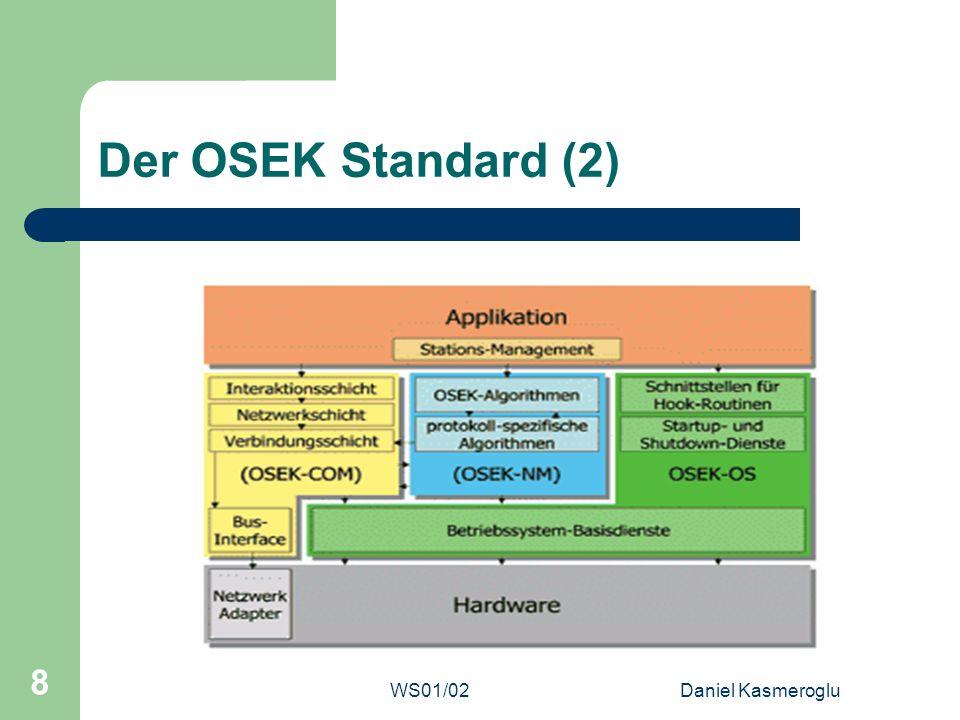 Der OSEK Standard (2) WS01/02 Daniel Kasmeroglu