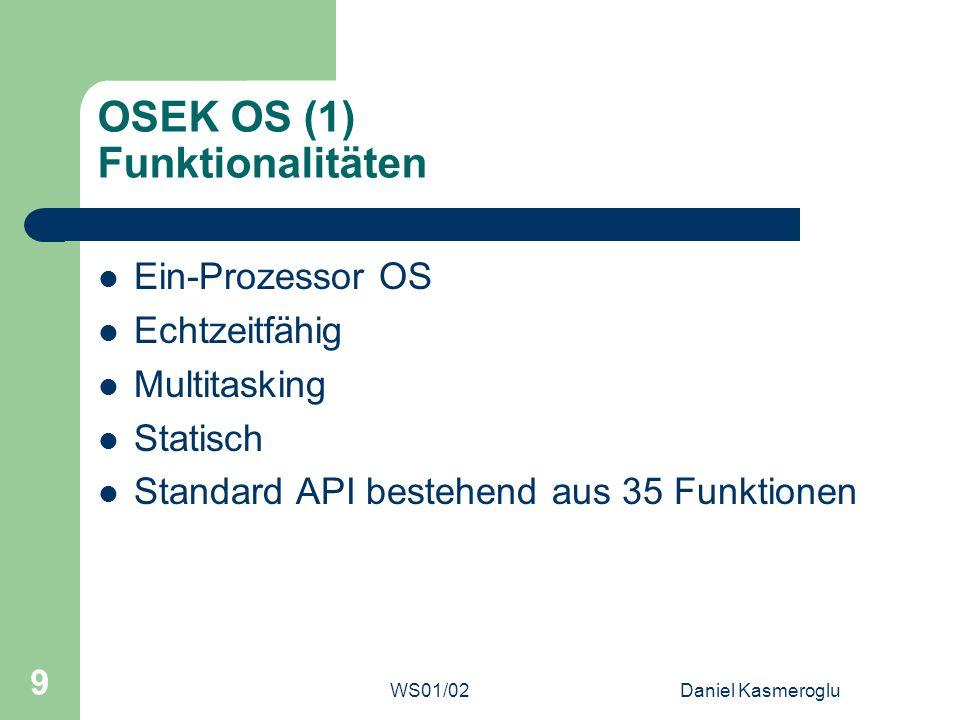 OSEK OS (1) Funktionalitäten