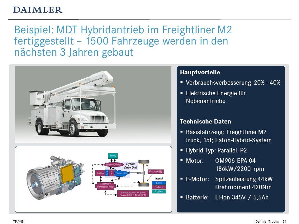 Beispiel: MDT Hybridantrieb im Freightliner M2 fertiggestellt – 1500 Fahrzeuge werden in den nächsten 3 Jahren gebaut