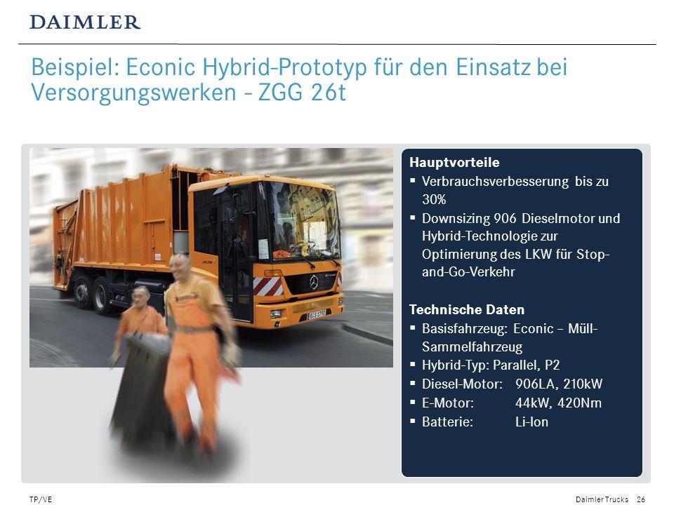 Beispiel: Econic Hybrid-Prototyp für den Einsatz bei Versorgungswerken - ZGG 26t