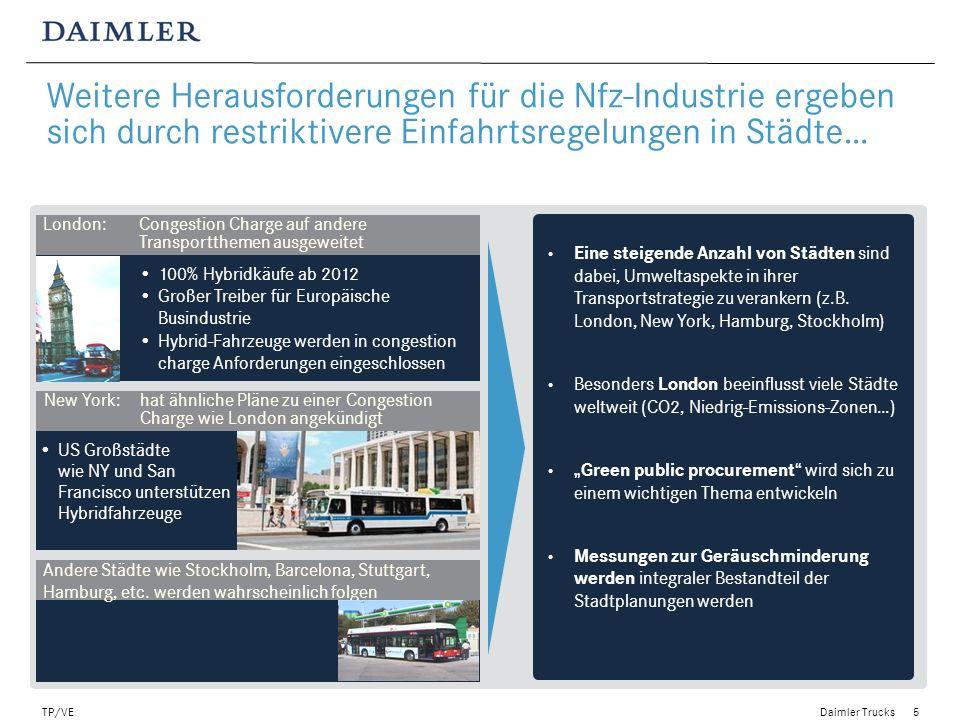 Weitere Herausforderungen für die Nfz-Industrie ergeben sich durch restriktivere Einfahrtsregelungen in Städte…