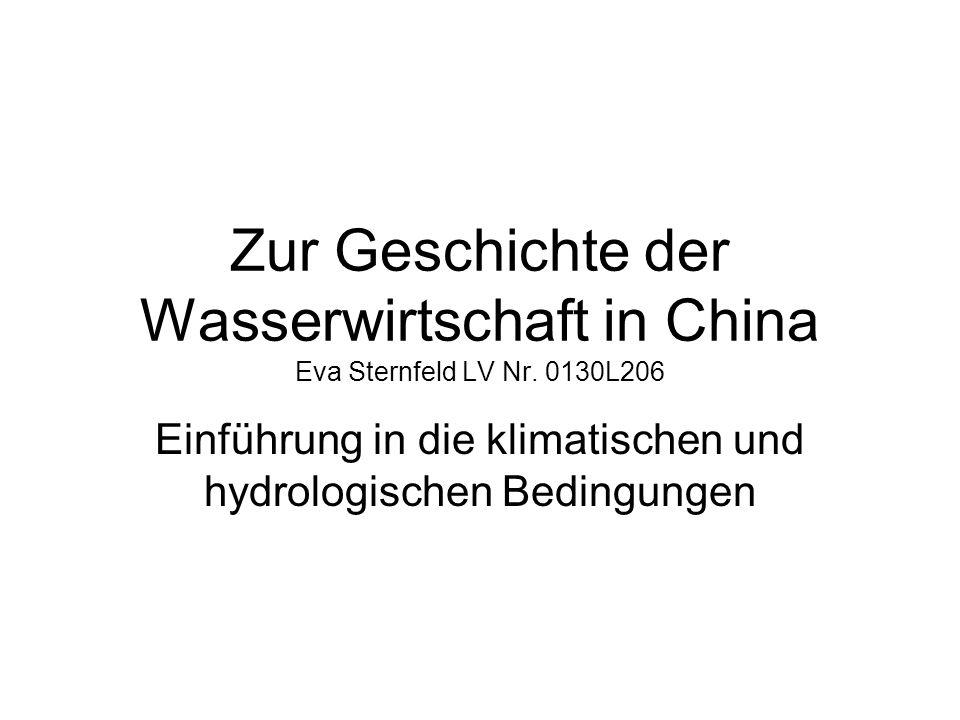 Einführung in die klimatischen und hydrologischen Bedingungen