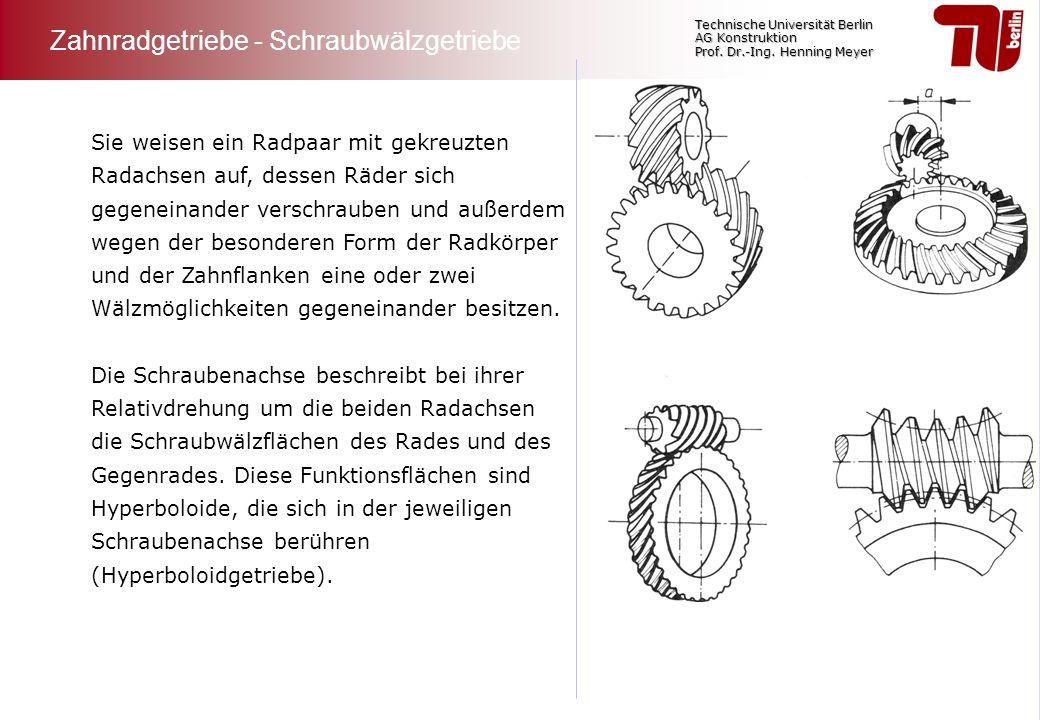 Zahnradgetriebe - Schraubwälzgetriebe