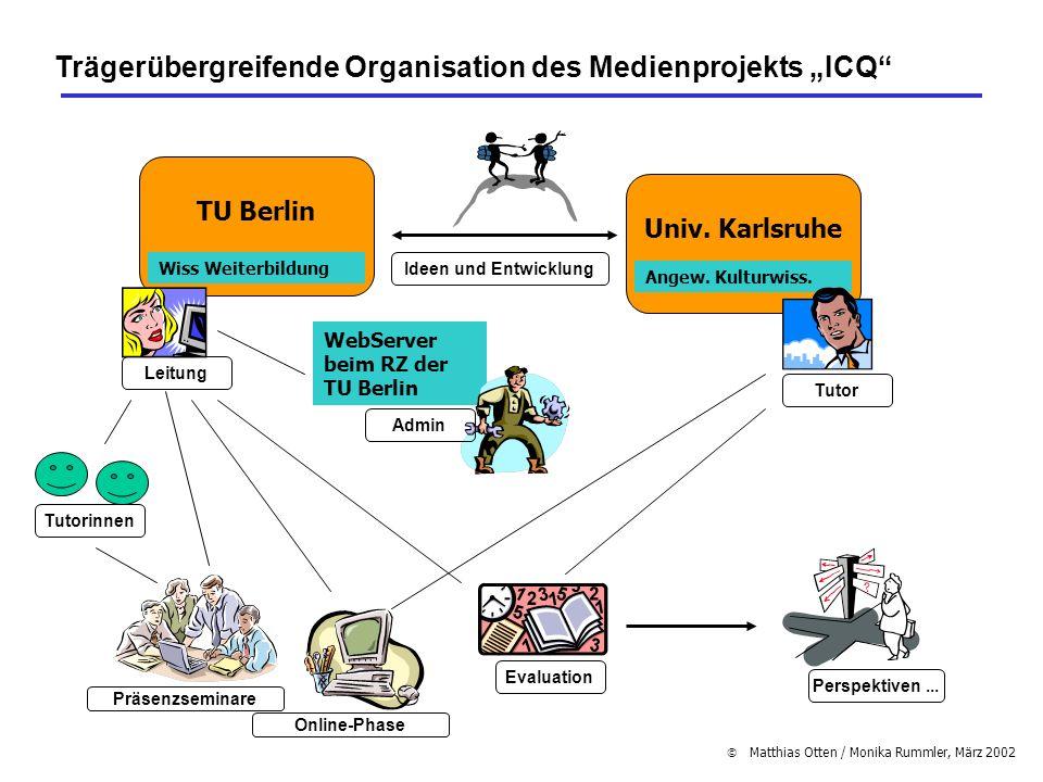 """Trägerübergreifende Organisation des Medienprojekts """"ICQ"""