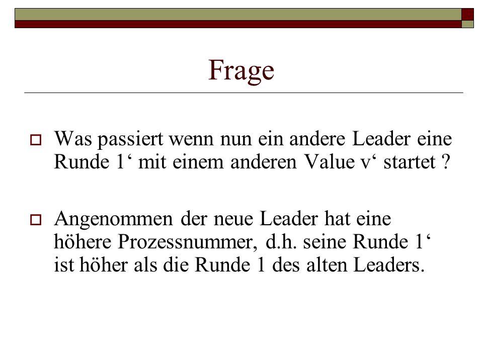 Frage Was passiert wenn nun ein andere Leader eine Runde 1' mit einem anderen Value v' startet