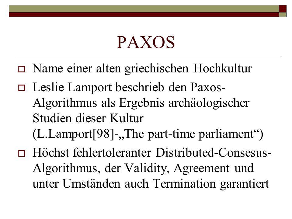 PAXOS Name einer alten griechischen Hochkultur