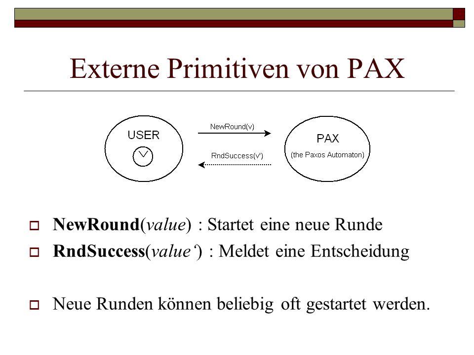 Externe Primitiven von PAX