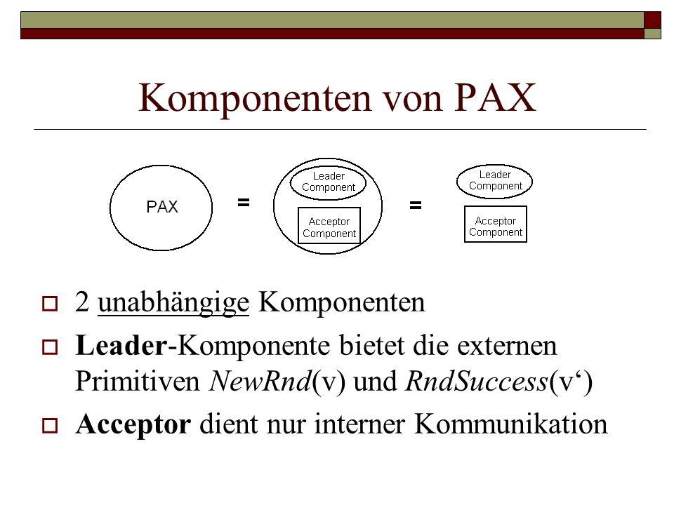 Komponenten von PAX 2 unabhängige Komponenten