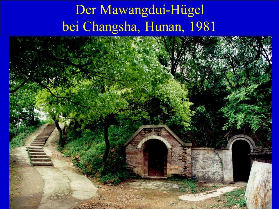 Der Mawangdui-Hügel bei Changsha, Hunan, 1981