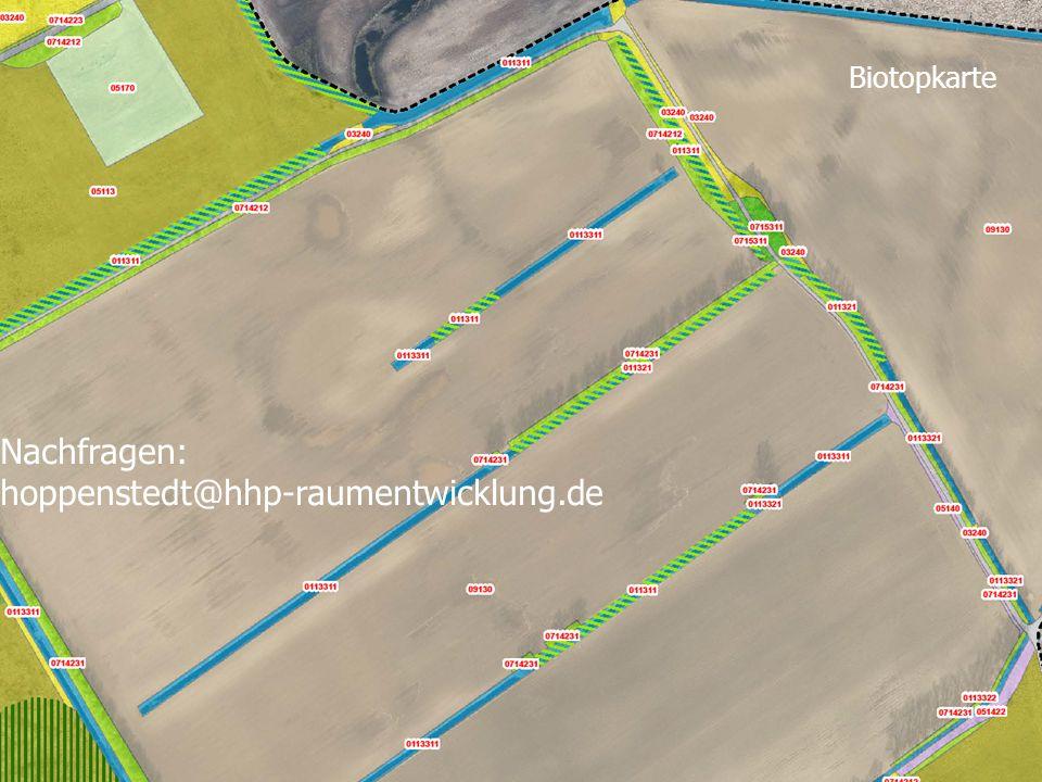 Biotopkarte Nachfragen: hoppenstedt@hhp-raumentwicklung.de