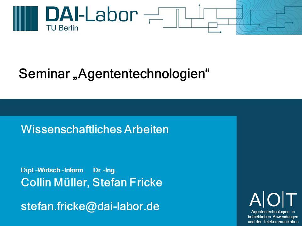 """Seminar """"Agententechnologien"""