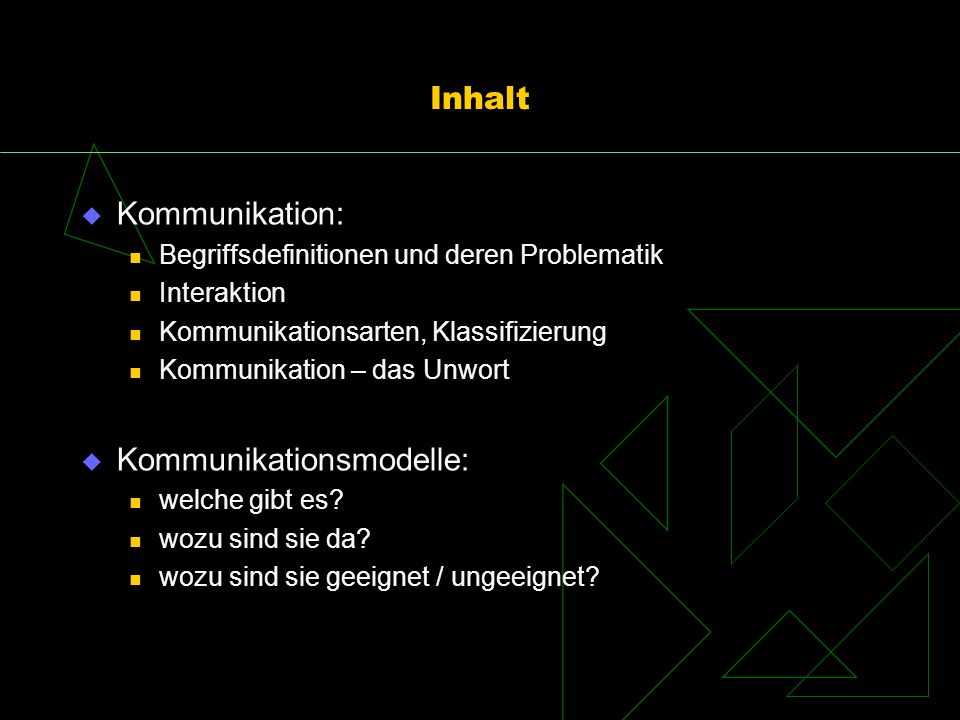 Kommunikationsmodelle: