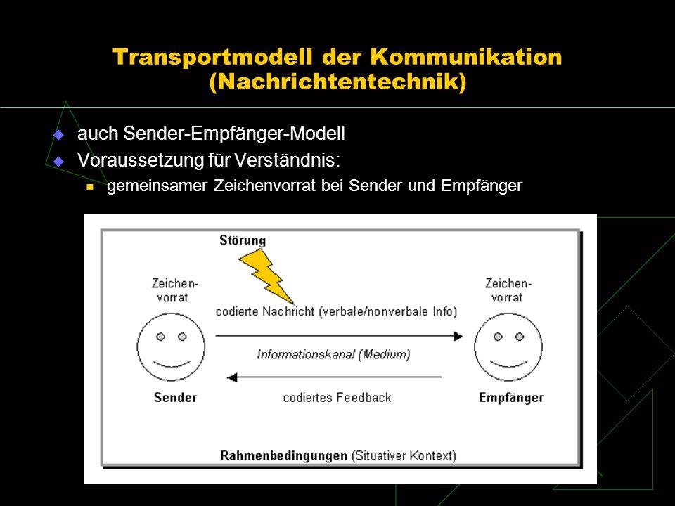 Transportmodell der Kommunikation (Nachrichtentechnik)