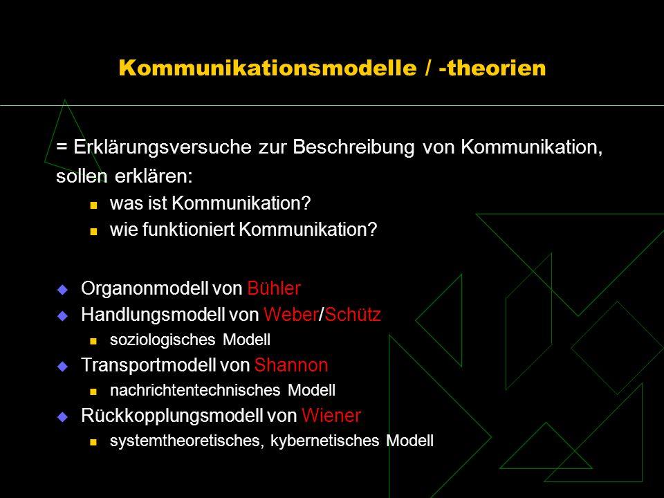 Kommunikationsmodelle / -theorien