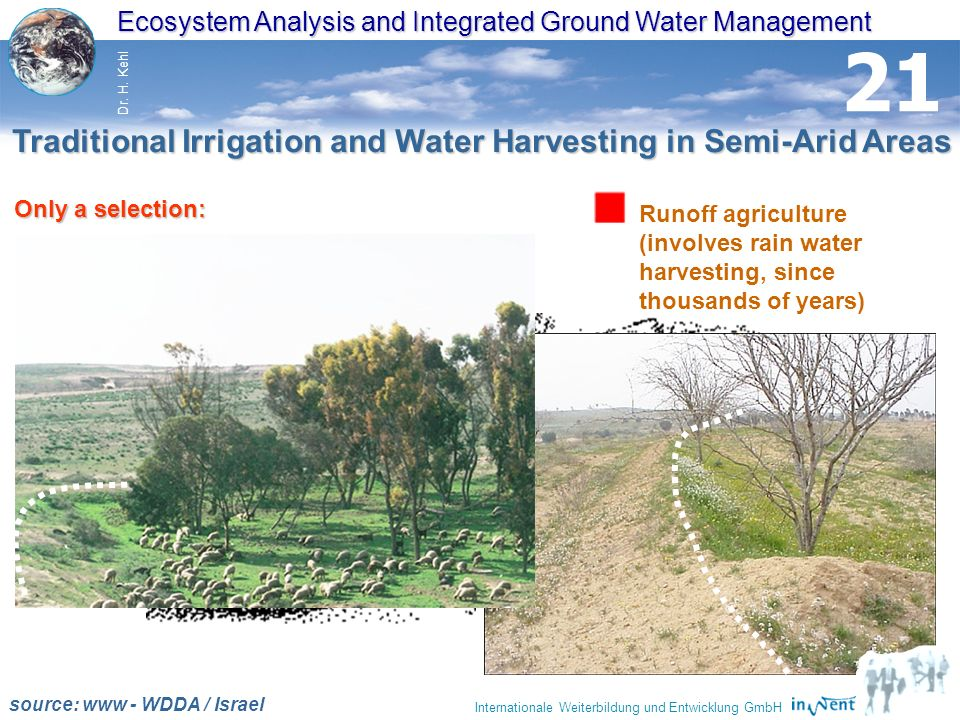 Traditional Irrigation and Water Harvesting in Semi-Arid Areas