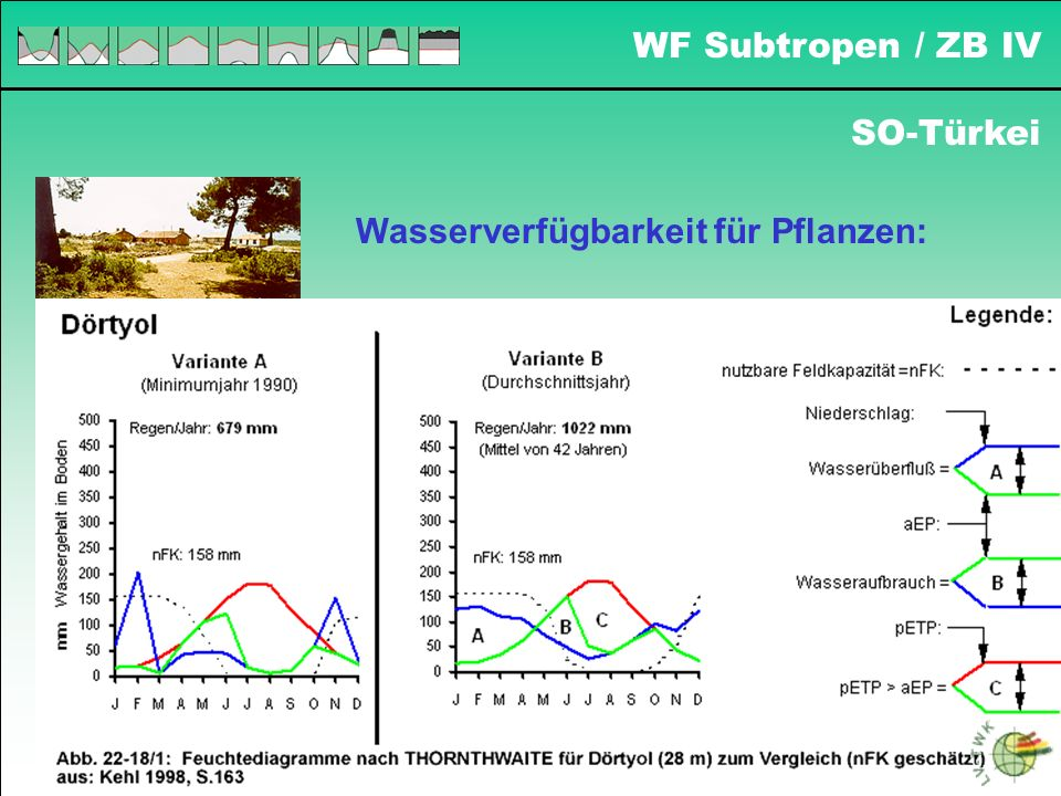 WF Subtropen / ZB IV SO-Türkei Wasserverfügbarkeit für Pflanzen:
