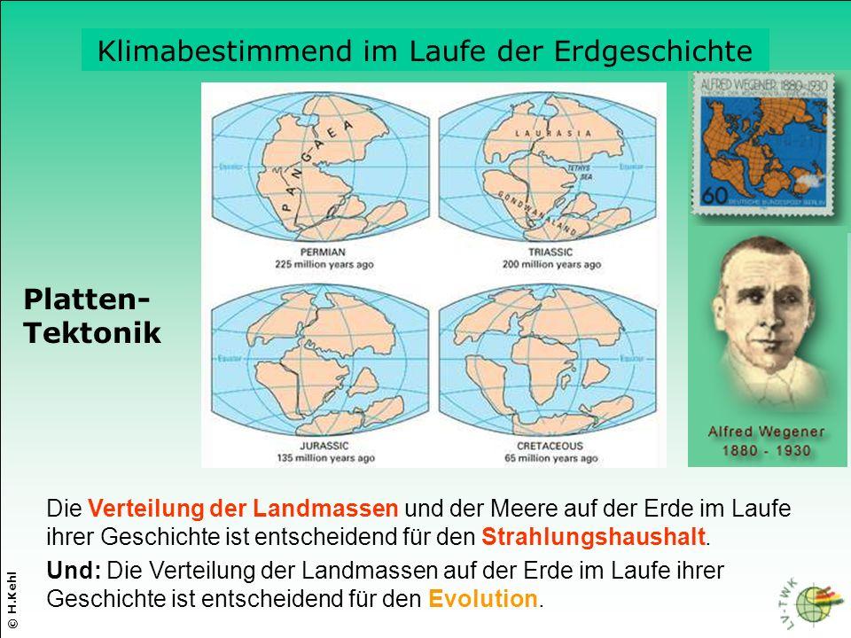 Klimabestimmend im Laufe der Erdgeschichte