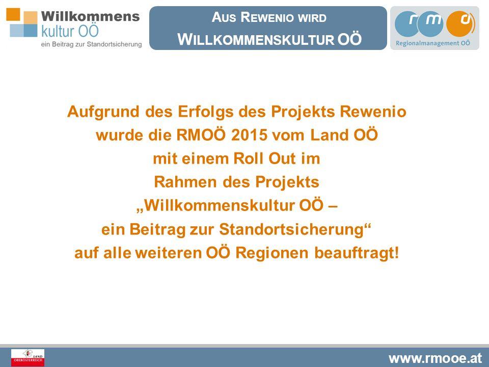 Aufgrund des Erfolgs des Projekts Rewenio