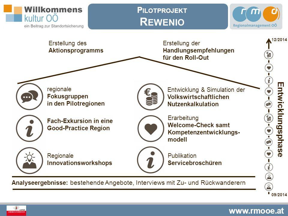 Rewenio Pilotprojekt Entwicklungsphase Erstellung des Aktionsprogramms