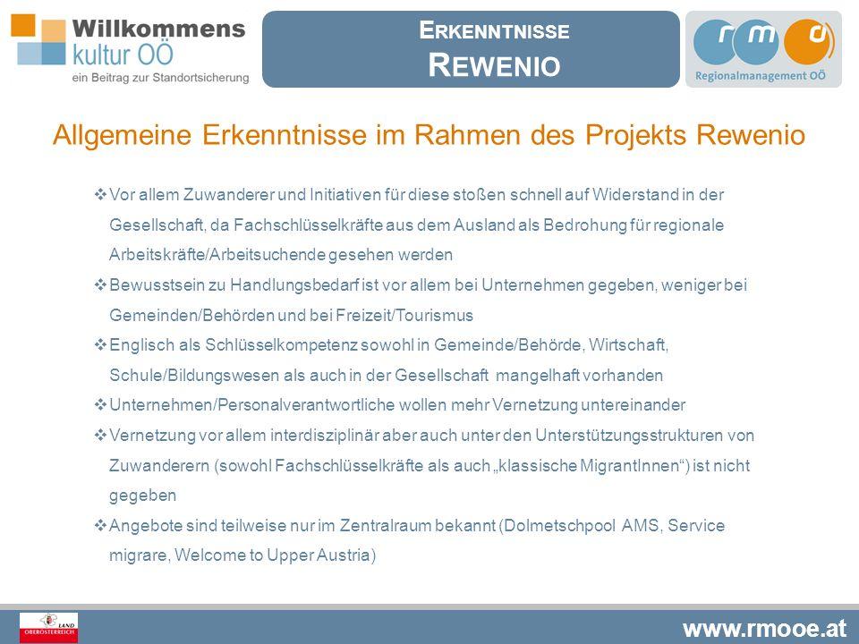 Rewenio Allgemeine Erkenntnisse im Rahmen des Projekts Rewenio