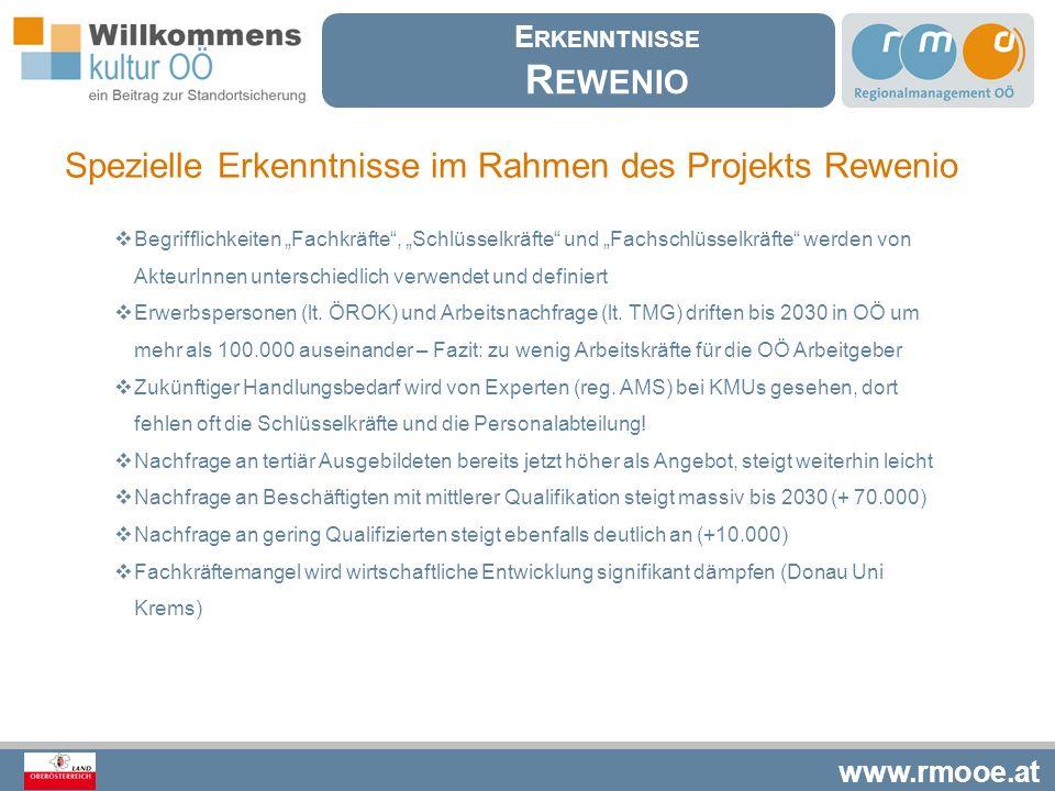 Rewenio Spezielle Erkenntnisse im Rahmen des Projekts Rewenio