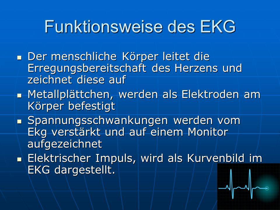 Funktionsweise des EKG