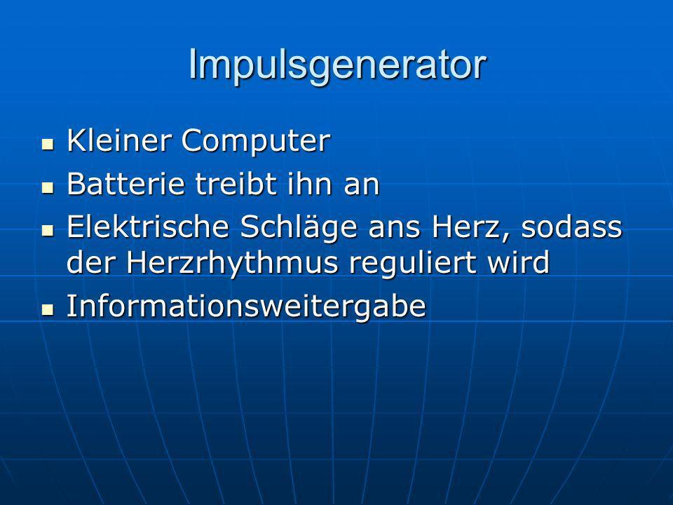 Impulsgenerator Kleiner Computer Batterie treibt ihn an