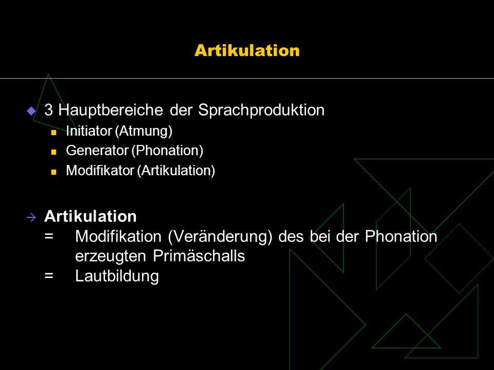 3 Hauptbereiche der Sprachproduktion