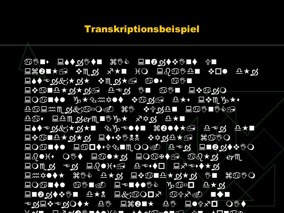 Transkriptionsbeispiel
